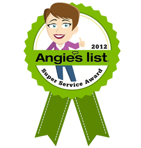 Tile Tim Awarded the 2012 Super Service Award on Angie's List